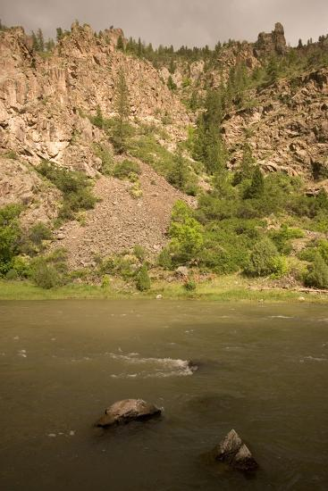 The Gunnison River on the Extreme Eastern Edge of Black Canyon of the Gunnison National Park-Phil Schermeister-Photographic Print
