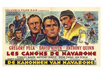 The Guns of Navarone, Belgian Movie Poster, 1961--Art Print