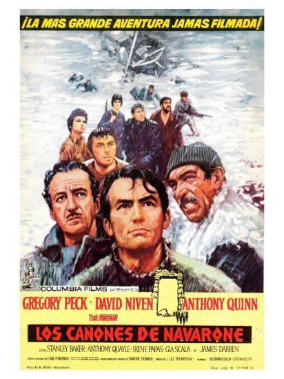 The Guns of Navarone, Spanish Movie Poster, 1961--Art Print