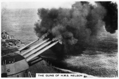 The Guns of the Battleship HMS 'Nelson' Firing, 1937--Giclee Print