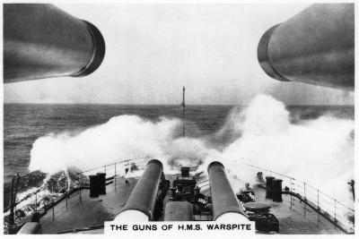 The Guns of the Battleship HMS Warspite, 1937--Giclee Print