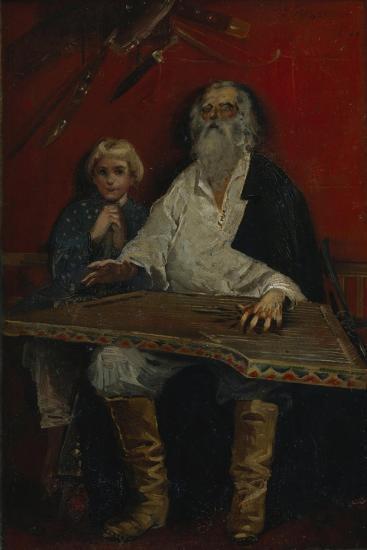 The Gusli Player-Andrei Petrovich Ryabushkin-Giclee Print