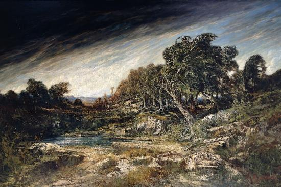 The Gust of Wind, C.1855-Gustave Courbet-Giclee Print