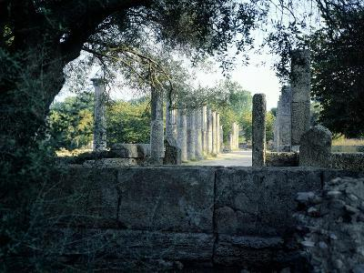 The Gymnasium of Olympia, Greece. Greek Civilization, 3rd Century BC--Giclee Print