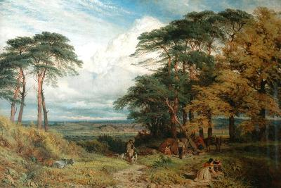The Gypsy's Encampment and Nottingham from Wilford Hill, 1853-Henry Dawson-Giclee Print
