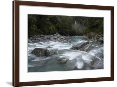 The Haast River in Mount Aspiring National Park-Michael Melford-Framed Photographic Print