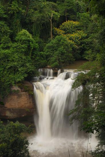The Haew Suwat Waterfall in a Scenic Wooded Setting-Darlyne A^ Murawski-Photographic Print