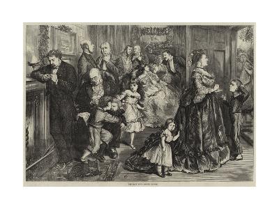 The Half Hour before Dinner-Frederick Barnard-Giclee Print