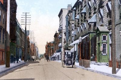 The Halifax and Queens Hotels, Hollis Street, Halifax, Nova Scotia, Canada, 1911--Giclee Print