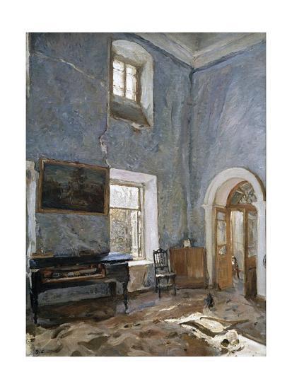 The Hall in the Old House, the Obinskys' Estate, Belkino-Valentin Aleksandrovich Serov-Giclee Print