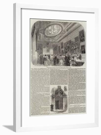 The Hall of the Barber-Surgeons' Company--Framed Giclee Print