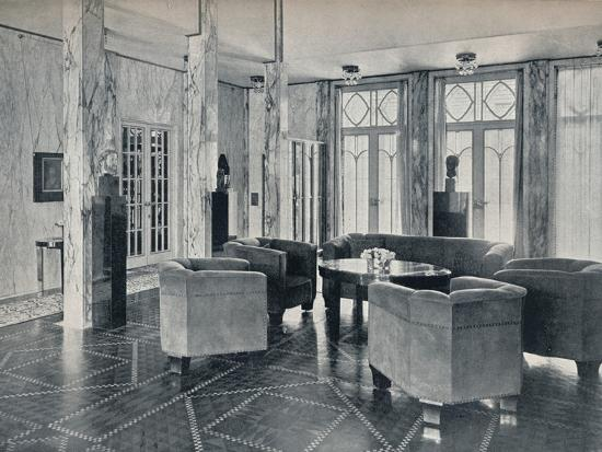 'The Hall of the Stoclet Palace, Brussels, Belgium', c1914-Unknown-Photographic Print