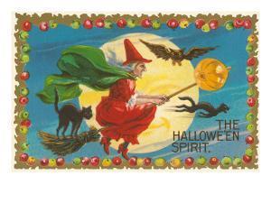 The Halloween Spirit, Witch on Broom