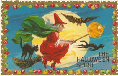 The Halloween Spirit, Witch on Broom