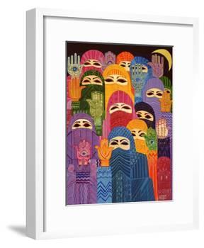 The Hands of Fatima, 1989-Laila Shawa-Framed Giclee Print