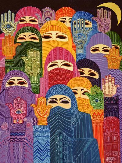 The Hands of Fatima, 1989-Laila Shawa-Giclee Print