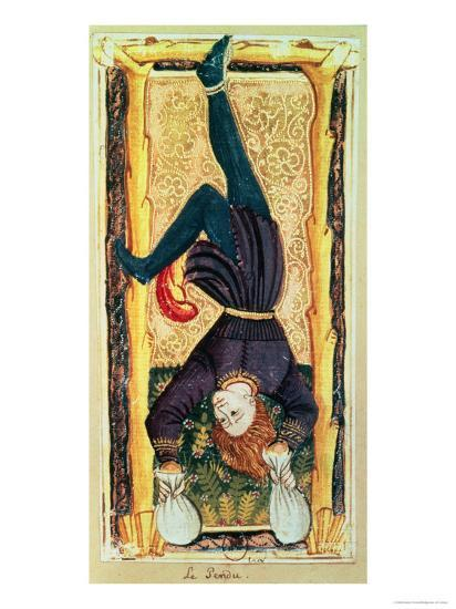 The Hanged Man, Tarot Card from the Charles VI or Gringonneur Deck--Giclee Print
