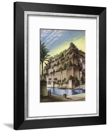 The Hanging Gardens of Babylon--Framed Giclee Print
