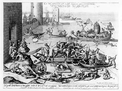 The Happy and Trouble Free Life of the Cripple (Engraving) (B/W Photo)-Hieronymus Bosch-Giclee Print