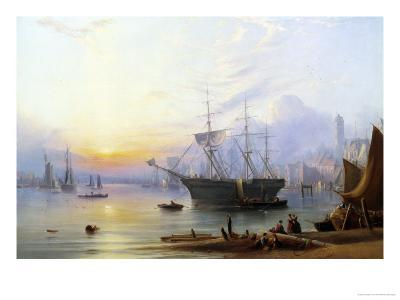 The Harbor at North Shields-Joseph Crawhall-Giclee Print