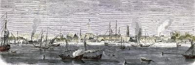 The Harbor of Bombay India of 1857--Giclee Print