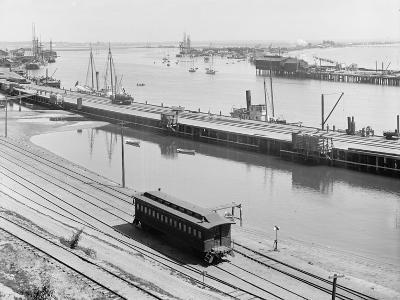 The Harbor, San Pedro, California, C.1880-99--Photographic Print