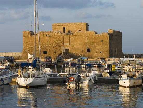 The Harbour and Paphos Fort, Paphos, Cyprus, Mediterranean, Europe-Stuart Black-Photographic Print