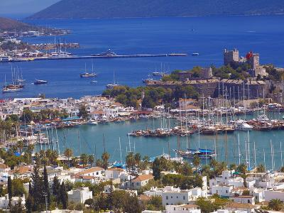 The Harbour and the Castle of St. Peter, Bodrum, Anatolia, Turkey, Asia Minor, Eurasia-Sakis Papadopoulos-Photographic Print