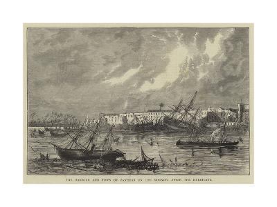 The Harbour and Town of Zanzibar on the Morning after the Hurricane--Giclee Print