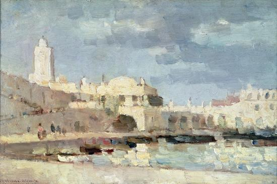 The Harbour at Algiers, 1876-Albert-Charles Lebourg-Giclee Print