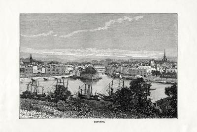 The Harbour at Bayonne, France, 1879--Giclee Print