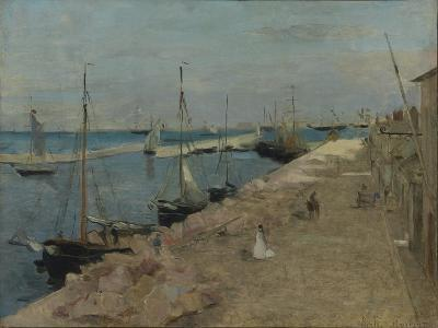 The Harbour at Cherbourg, 1871-Berthe Morisot-Giclee Print