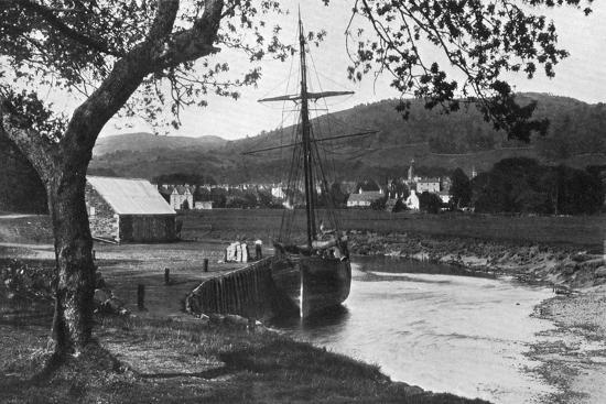 The Harbour, Gatehouse of Fleet, Dumfries and Galloway, Scotland, 1924-1926-Valentine & Sons-Giclee Print