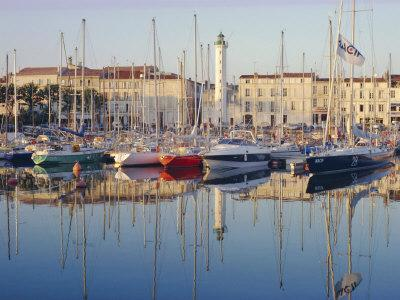 The Harbour in the Evening, La Rochelle, Poitou-Charentes, France-Ruth Tomlinson-Photographic Print