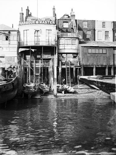 The Harbour Master's Office at 74 Narrow Street, Limehouse, London, C1905--Photographic Print