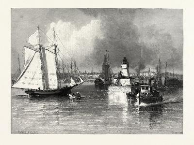 The Harbour-Mouth, Cobourg, Canada, Nineteenth Century--Giclee Print