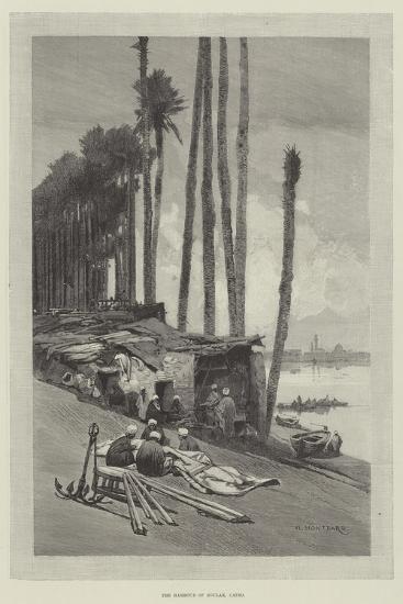 The Harbour of Boulak, Cairo-Charles Auguste Loye-Giclee Print
