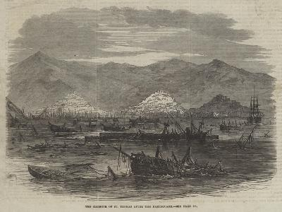 The Harbour of St Thomas after the Earthquake--Giclee Print