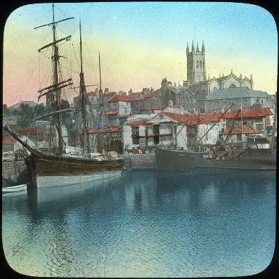 The Harbour, Penzance, Cornwall, Late 19th or Early 20th Century--Giclee Print