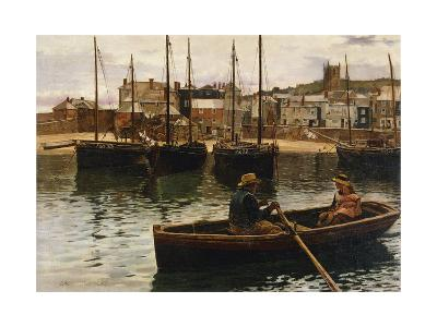 The Harbour, St.Ives, Cornwall, 1885-William H. Bartlett-Giclee Print