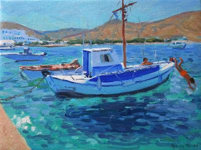 The Harbour, Tinos, 2012-Andrew Macara-Giclee Print