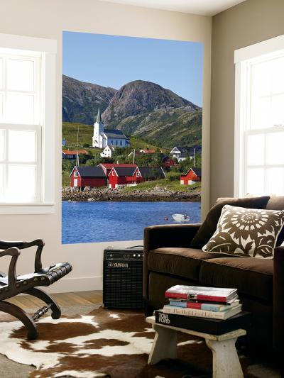 The Harbour Town of Malnes, Vesteralen, Nordland, Norway-Doug Pearson-Wall Mural