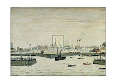The Harbour-Laurence Stephen Lowry-Art Print