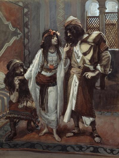The Harlot of Jericho and the Two Spies-James Tissot-Giclee Print