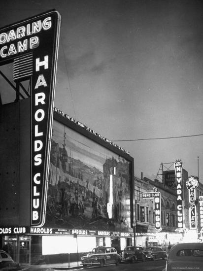 The Harolds Gambling Casino Lighting Up Like a Candle-J^ R^ Eyerman-Photographic Print
