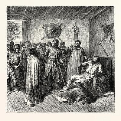 The Harper in the Baron's Hall 12th Century--Giclee Print