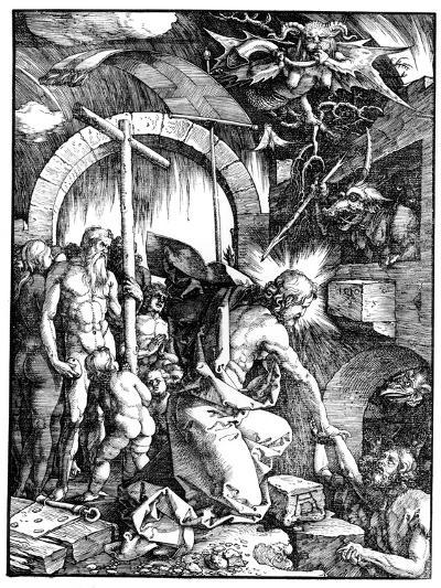 The Harrowing of Hell or Christ in Limbo, from the Large Passion, 1510-Albrecht D?rer-Giclee Print