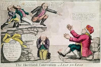 The Hartford Convention, or 'Leap No Leap', February 1815-William Charles-Giclee Print