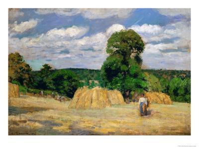 The Harvest, 1876-Camille Pissarro-Giclee Print