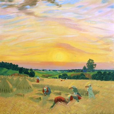 The Harvest, 1914-Boris Mikhajlovich Kustodiev-Giclee Print